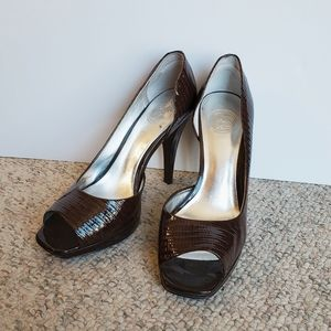 Jessica Simpson JP Hannah Brown Peep Toe Pumps